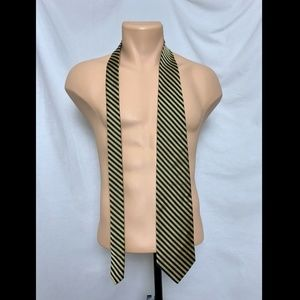 Brooks Brothers Accessories - Brooks Brothers Makers Blue Gold Stripe Silk Tie